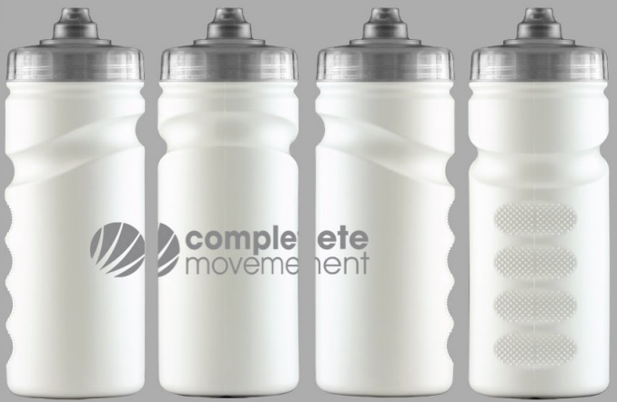 White BPA Free Water Bottles from Complete Movement